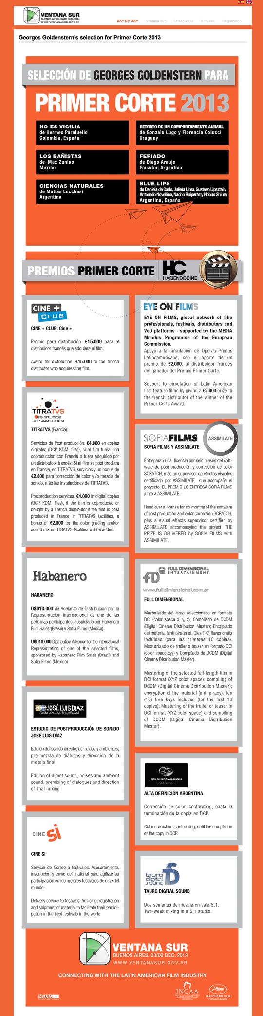 Primer Corte 2013 info